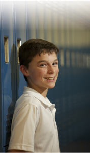 Andy Ryan enjoys the newly established 7th grade at St. Mary's School, Cortland.