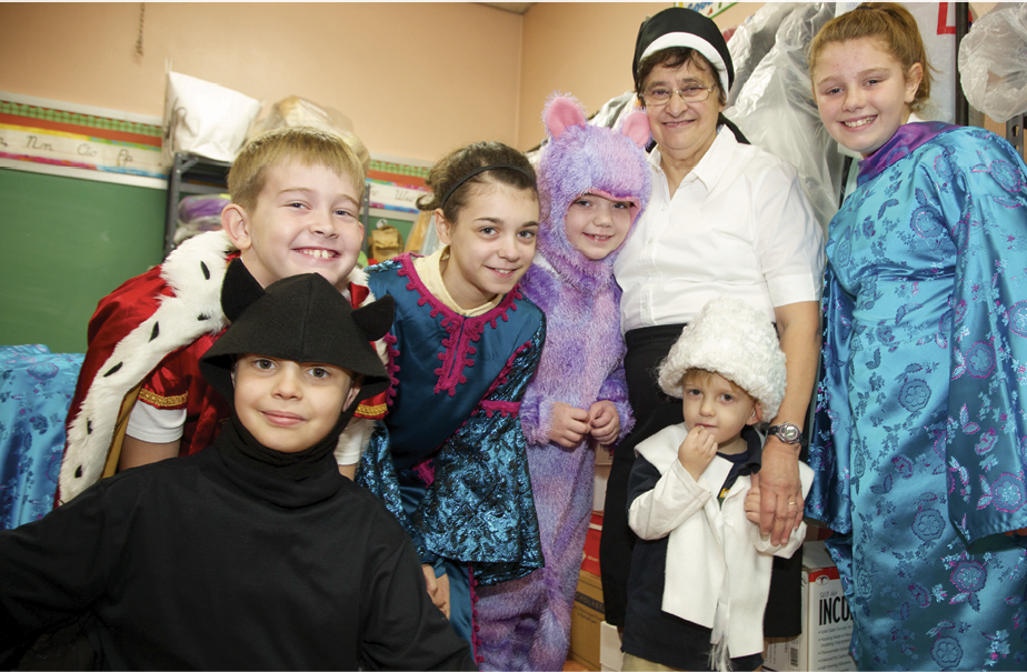 Sister Nicolette Vennaro, OSF, instills a love of drama in her students at Blessed Sacrament School.