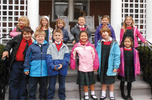 Photo of kids visiting residence