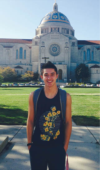 Attending Catholic University has helped further Williams' faith.
