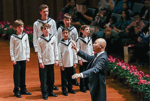 Matthew Beach, far left, sings with the Vienna Boys' Choir.