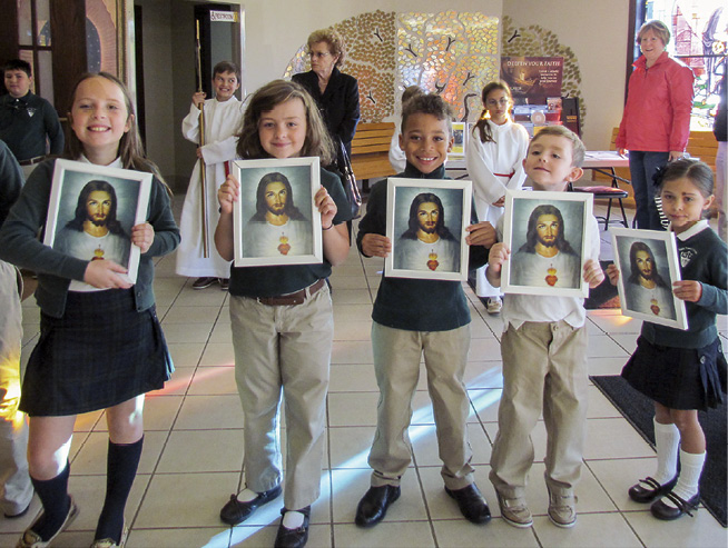 Holy Family students celebrate re-enthronment