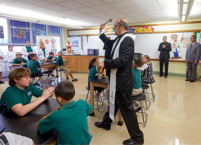 St. Margaret's School science lab blessing