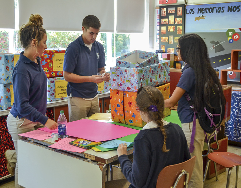 Bishop Grimes Spanish Students Put Faith in Action at City Schools
